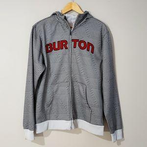 🦋3/$25 Burton Hoodie Jacket Striped Medium Black